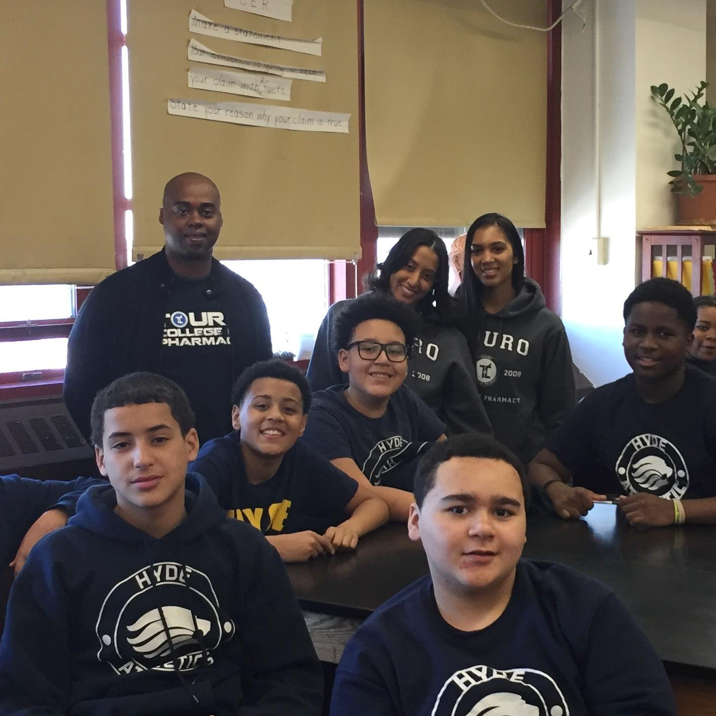 TCOP students visited Hyde Leadership Charter School Academy in the Bronx to talk with three seventh grade classes about the perils of prescription drug abuse.
