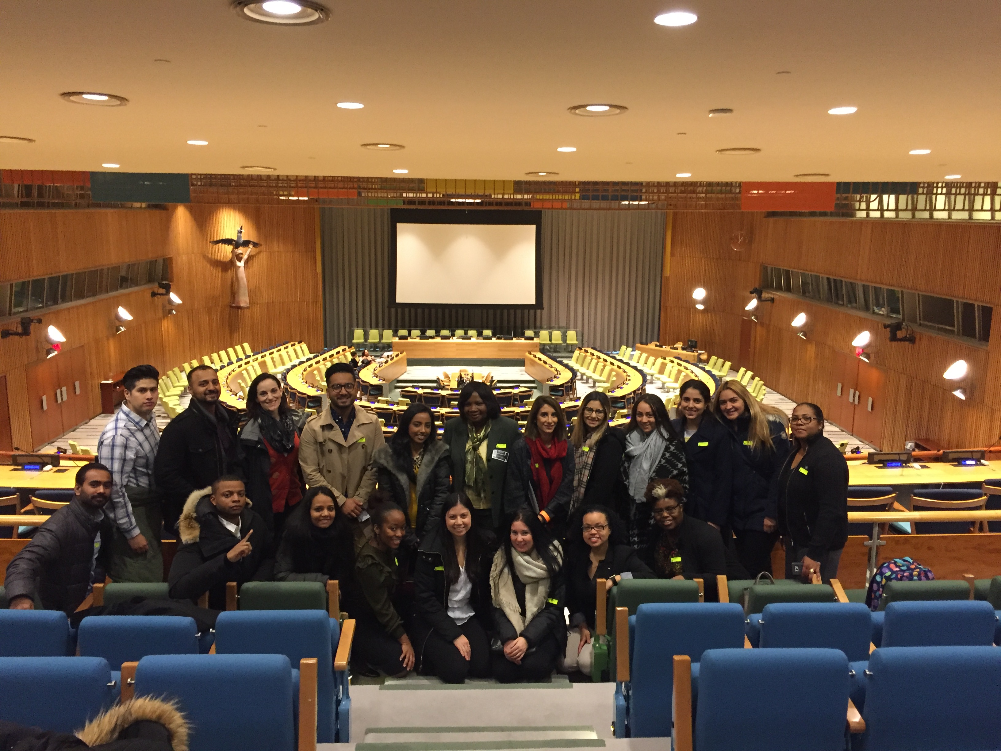 Students from TCOP's Global Health class visited the United Nations on Nov. 14.