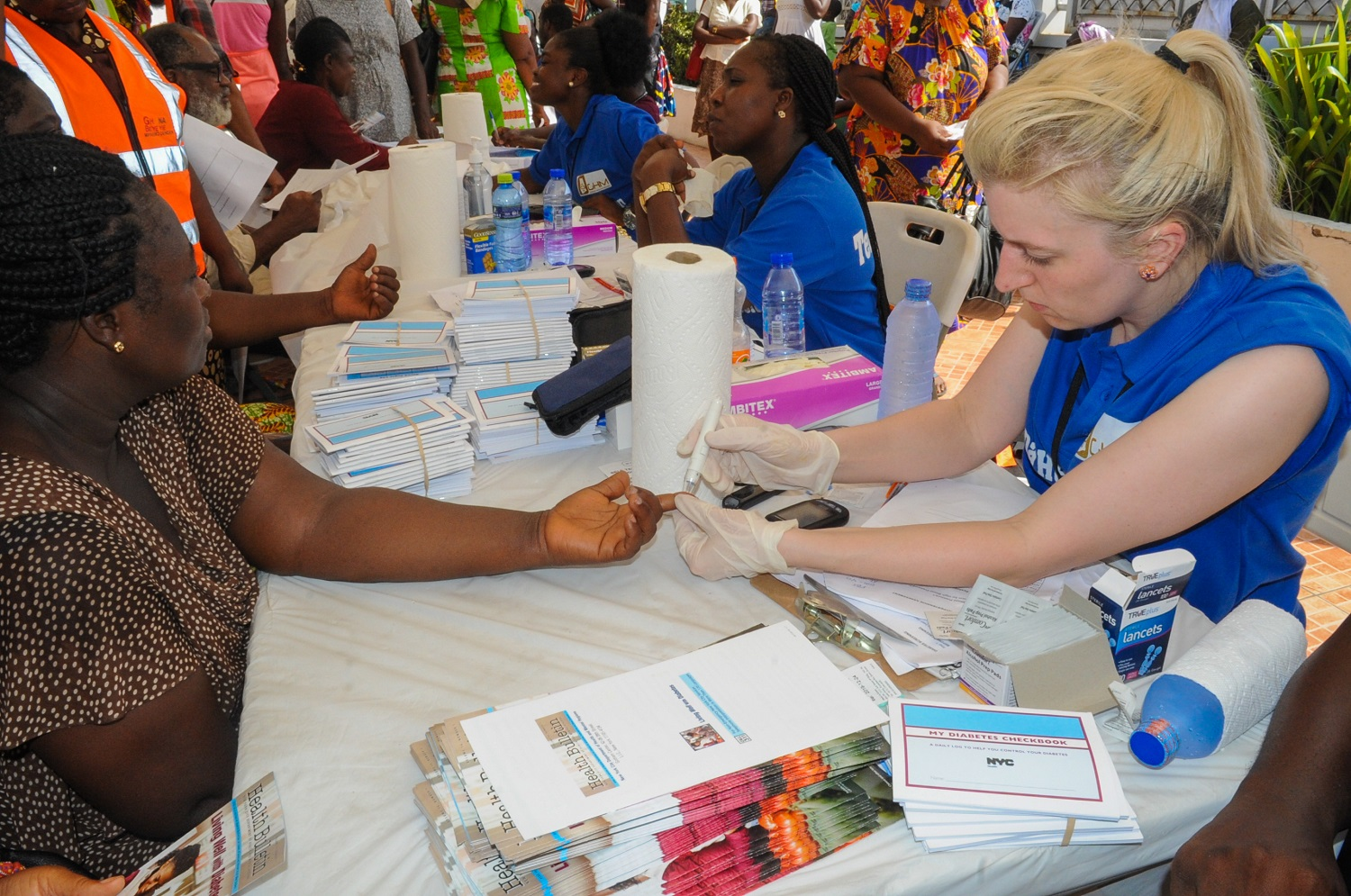 Students from TCOP ran a health fair in Ghana for 4,000 people in March.