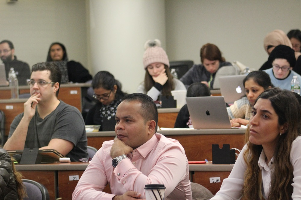 TCOP students learned about combating counterfeit drugs during a lecture on Feb. 5